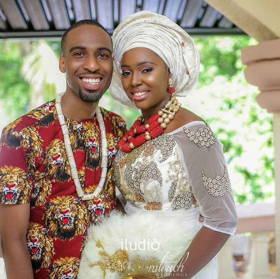 Nigerian Wedding Menu: TRD60 - Couple In Traditional Igbo Attire